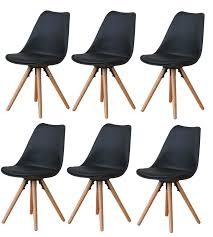 6x esszimmerstuhl nelle küchenstuhl esszimmer küche stuhl stühle eiche schwarz