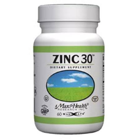 Maxi Health Zinc 30 Dietary Supplement - 60ct