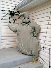 Nightmare Before Christmas Zero Halloween Decorations by Oogie Boogie Constructed Out Of Burlap Glow In The Dark Paint And
