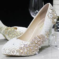 Acheter Fuchsia Diamonds Femmes Chaussures De Mariage Strass Perles