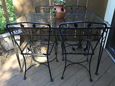 Salterini Iron Patio Furniture by Wrought Iron Antique Dining Sets Ebay