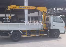 Berat Truk Boom Pengangkutan Dipasang Derek, 4,2 TM 2,1 Ton
