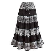 women u0027s peasant skirt enchanting black and white long cotton