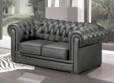canapé chesterfield cuir gris canapé 3 places en cuir mobilier privé