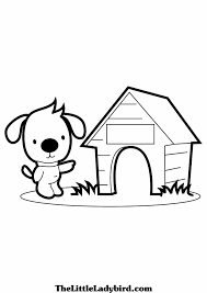 Dog House Coloring Page