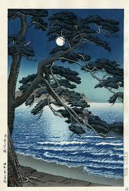 Hasui Moonlit Woodblock Prints Japanese