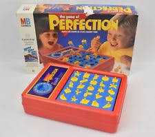 Vintage Perfection Game Board 1990 MB Games VGC 100 Complete