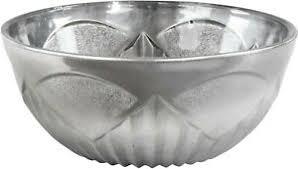 details zu schale schüssel gefäß deko schale wohnzimmer edel glas metall design neu
