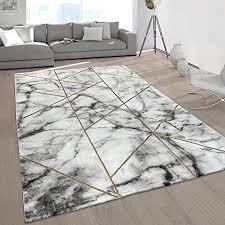 paco home wohnzimmer teppiche grau gold weich marmor optik kurzflor mit vers designs grösse 80x150 cm farbe gold 4