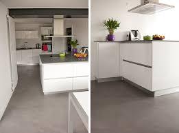béton ciré sol cuisine extension cuisine beton cire nantes la baule atelier design