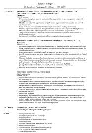 Download Pediatric Occupational Therapist Resume Sample As Image File