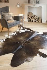 kuh fell in braun gemustert teppiche interieur und