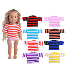 Striped Tshirt Clothes For 18 Inch American Girl Our Generation