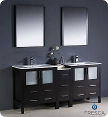 Double Sink Vanity Home Depot Canada by Fresca Torino 72 Inch W Double Vanity In Espresso Finish With Side