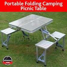Portable Foldable Picnic Table / Camping Table / Chair ...