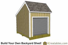 8x10 Saltbox Shed Plans by 12x8 Salt Box Garage Door Shed Plans Motorcycle Garage