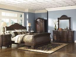 Bedroom North Shore Queen Ashley Furniture Sleigh Bed In Dark