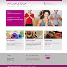 Experience Yoga HealthHosts Web Design For Therapists