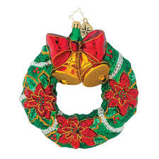 Christopher Radko Wreath Warmth Christmas Ornament Collectibles