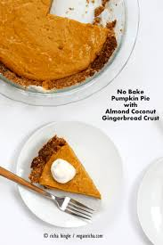 Pumpkin Pie Without Crust And Sugar by No Bake Vegan Pumpkin Pie With Gluten Free Gingerbread Crust