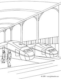 Livre De Coloriage De Train Pour Des Enfants Illustration De Vecteur