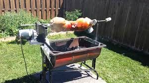 Homemade Pig Rotisseries Using Dayton Gearmotor - YouTube How To Have A Farm Table Dinner In Your Backyard Recipes Backyard Rotisserie Chicken South Riding Va Luxor 42inch Builtin Propane Gas Grill With Aht A Gallery Of Images The Barbecue Stacker Which Expands Home Build An Outdoor Pizza Oven Hgtv Diy Motor Do It Your Self Diy Great Garden Designs Sunset Pig Hog On Portable Battery Powered Spit Roaster Youtube Custom Concrete Fire Pit And Seating Best Table Ideas On Pinterest I Hooked Jumbo Joe Up Rotisserie Works Weber