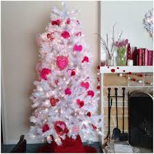 White Christmas Tree With Pink Decorations 5