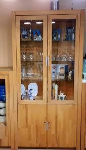vitrine esszimmer wohnzimmer kernbuche massiv geölt