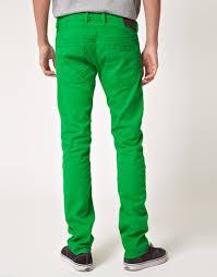 diesel shioner slim jeans in green for men lyst