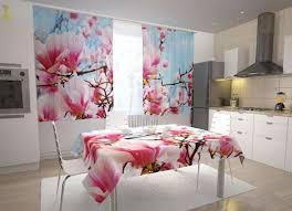 küchen fotogardinen schöne magnolien
