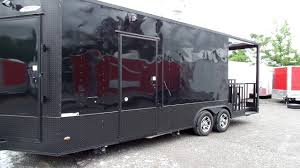 100 Concession Truck Trailer 85 X 23 Black BBQ Event Catering YouTube