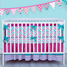 Bright Colored Mini Crib Bedding Sets For Girls — All Home Design
