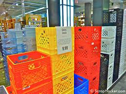 Milk Crate Wall Shelf