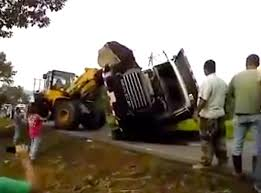 100 Truck Video VIDEO Loader Uprights Dump Truck Gravity Quickly Ruins Everything