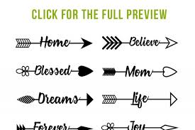 16 Arrow Words Clipart Rustic Arrows SVGs Wedding Vector