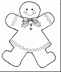 Gingerbread Girl Coloring Pages Surprising Page With House Free