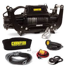 100 Truck Wench Amazoncom Champion 12000lb SUV Synthetic Rope Winch Kit