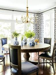 Black Dining Room Chandelier Round Table And French Chairs With Double Twist Large