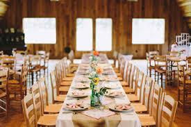 Indoor Barn Receptions Via Ruffledblog
