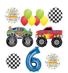 Mayflower Products Monster Truck Party Supplies 6th Birthday Balloon ... Monster Truck Party Ideas At Birthday In A Box Pin By Vianey Zamora On Decoration Truck Pinterest Cake Decorations Simple Cakes Brilliant Jam Given Minimalist Article Little 4pcs Blaze Machines 18 Foil Balloon Favor Supply 2nd Diy Jam Gravedigger Photo 10 Of Table Amazoncom Birthdayexpress Room Cboard Id Mommy Diy