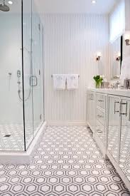 awesome black and white hexagonal bathroom floor tile