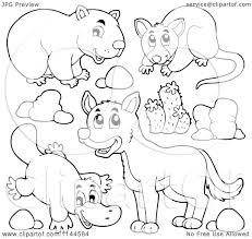 Australian Animals Colouring Pages Preschool Pinterest Coloriage Dingo Australien