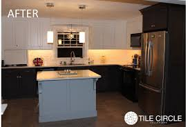 Mother Of Pearl Large Subway Tile by Pearl Backsplash Before U0026 After Photos Tile Circle