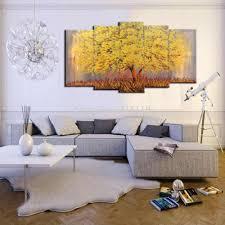 handmade schöne ölgemälde auf leinwand moderne gruppe bilder baum landschaft wandbild für wohnzimmer hängen gemälde