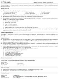 Manufacturing Operator Resume Examples Production Samples Manager Mid Level
