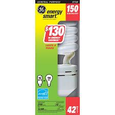 shop ge 42 watt 150w spiral medium base soft white 2700k cfl