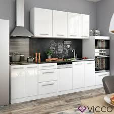 vicco küche fame line küchenzeile einbauküche küchenblock