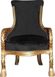 casa padrino barock lounge sessel black gold mod2 möbel