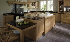 traditional eco friendly kitchen with teak wood storage set and