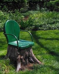 One Unsightly Tree Stump + One Metal Chair With A Broken Leg = A ... Safavieh Outdoor Living Abia White Wrought Iron Tree Bench 50 Whimsical Outdoor Wedding Reception With Market Lights And Cross Buy Dedon Mu Lounge Chair Online Clima Oak Leaf Wind Weather Faux Queen Anne Metal Garden Chairs For Sale At 1stdibs Amazoncom Kids Wooden Whimsical Aries The Ram Engraved Lets Do Ding Making It Lovely Shop Contemporary 37 Inch Red Wire By Studio Breezy And The Beautifully Contoured Frame On This Bright Scene Child Size Stock Photo Edit Now
